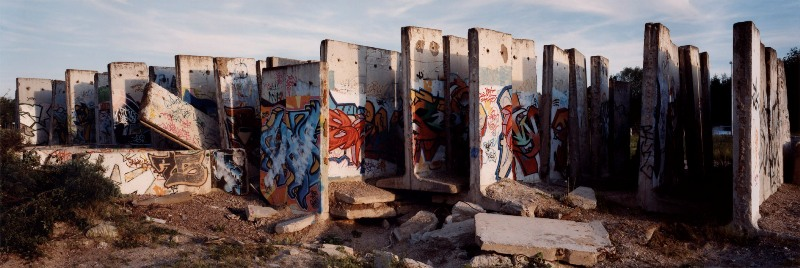 Kai Wiedenhöfer Berlin wall slabs with graffity